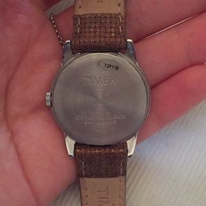Timex Accessories - Timex Watch with Brown straps and silver hardware